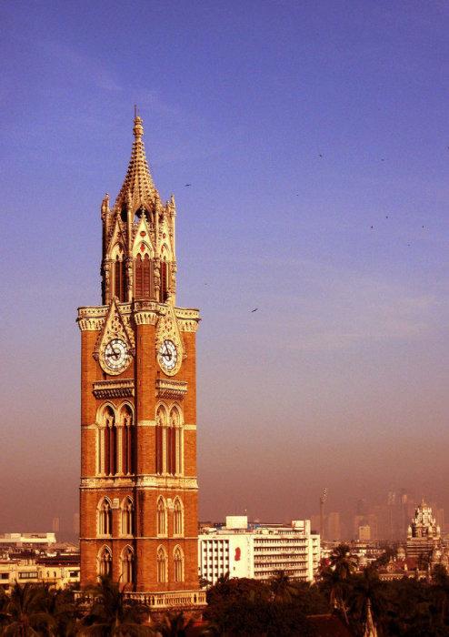 Часовая башня Раджабаи (Rajabai Clock Tower), Мумбай, Индия