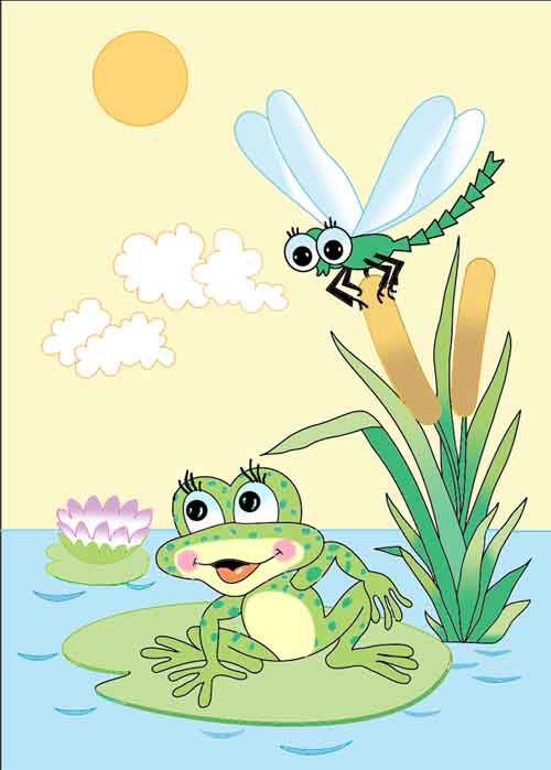 картинка про лягушек и комара